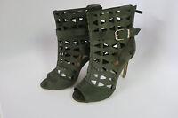 Olive Fashion Peek a Toe High Heel Women's Sandal Shoes DBDK Zola-8L