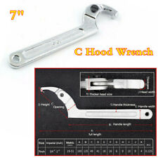 "7"" Hook Wrench C Spanner Tool Motorcycle Suspension Spring Bearing Square Head"