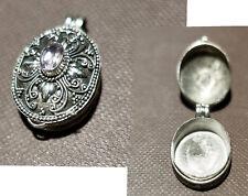 Anhänger,925er Silber,Handarbeit,Medaillon,Box,Giftanhänger mit 1 Amethyst