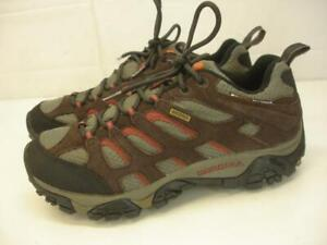 Men's 7.5 M Merrell Moab 2 Waterproof Hiking Shoes Espresso Brown Suede Leather