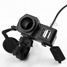 12v Waterproof Motorcycle ATV Motorbike USB Power Socket Adapter Charger Outlet