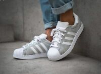 Adidas Superstar Silver Sparkle Glitter Limited Edition Sizes UK 3-8
