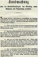 Alter Druck Kundmachung 1837 Wien Vorsichtsmaßregeln Brunnen