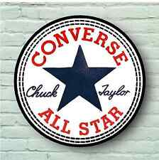 LARGE CONVERSE ALL STAR LABEL LOGO PICTURE USA RETRO SIGN MODERN WALL ART