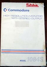 COMMODORE USER'S MANUAL for Model 1084S HIGH RESOLUTION MONITOR