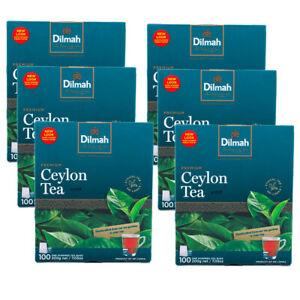 Dilmah Premium Single Origin 100% Pure Ceylon Tea - 100 Bags x 06 packs