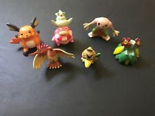 6 pcs Pokemon Mini PVC Action Figures Toys Raichu Slowking Hitmonlee Bellossom