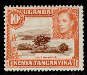 KENYA UGANDA TANGANYIKA GVI SG134, 10c red-brown & orange, NH MINT.
