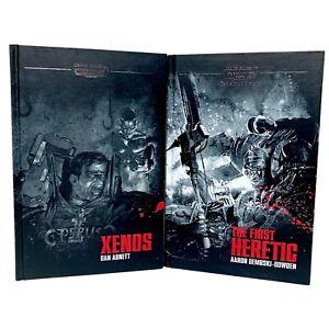 Warhammer 40k Legends Collection Xenos & First Heretic Hardback 2x Book Bundle