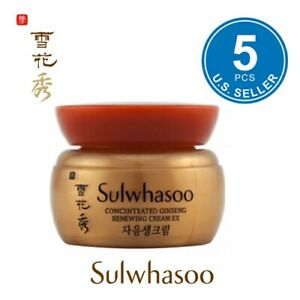 Sulwhasoo Concentrated Ginseng Renewing Cream Ex 5ml x 5pcs (25ml)  US Seller