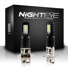 NIGHTEYE Pair H3 LED Fog Light ATV SUV Replacement Bulbs Light 6500K Cool White