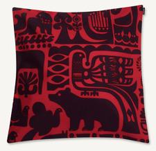"Marimekko 20"" Kanteleen Kutsu cotton pillow case cushion cover Finland red plum"