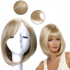 Women Bob Hair Wig Straight Bang Short Bobo Blond Curly Cosplay Natural Full Wig