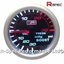 AUTOGAUGE Auto Gauge Mechanical 52mm Smoked Face Faced Turbo Boost Gauge Kit PSI