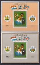 1981 Royal Wedding Charles & Diana MNH Stamp Sheets Paraguay 1st Issue