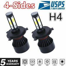 4-Sides CREE H4 9003 HB2 LED Headlight Kit Bulbs Hi/Lo Beam 6500K 2600W 375000LM