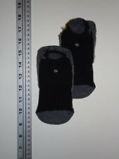 SMARTWOOL Shoe Liners Unisex Small 3-5.5 Dark, Medium Gray Black Mesh Top