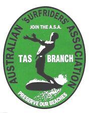 New listing AUSTRALIAN SURF RIDER TASMANIA ASSO Sticker Decal Surfboard Longboard Skateboard