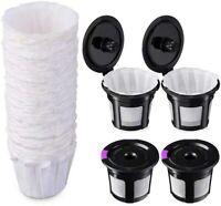 Keurig Reusable K Cups Filters Set, 4 Pack + 100 PCS Coffee paper filters