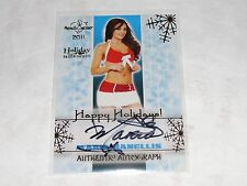2015 Benchwarmer MARIA KANELLIS Happy Holidays Gold Foil Auto WWE Diva PLAYBOY