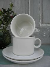 Stonehenge White Midwinter Flat Cup & Saucer Sets