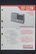Sony icf-c22w originale Manuel de service/manuelle/AMPLIFICATEUR ! O14