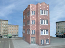 N Scale Building - Chicago Style Apartment Building CA1