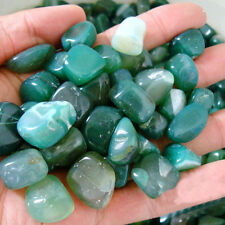 50g Natural Quartz Green Agate Stone Crystal Rough Rock Mineral Healing Decor