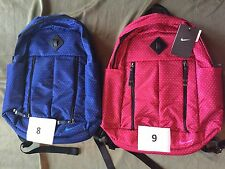 Nike Back Pack Book Bag New Tags Variety Colors Limited Quantity Navy Pink