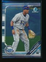 WANDER FRANCO 2019 Bowman Chrome Draft Tampa Bay Rays Rookie Card RC