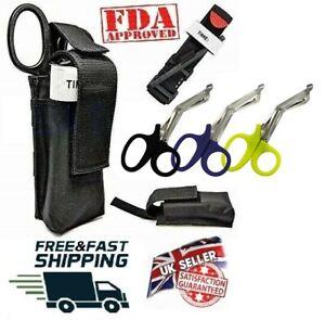 Genuine Tourniquet Combat Application First Aid + Trauma Shear+ Molle Pouch - UK