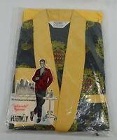 NEW Vtg 1950s MENS Pleetway Pajamas with Smoking Jacket Size A Loungewear NOS