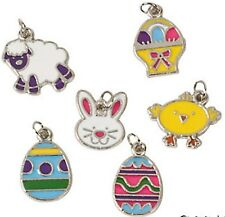 36 Enamel EASTER Charms Crafting ASSORTMENT for Bracelets,Necklaces & more