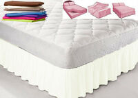 """King Size PLATFORM VALANCE SHEET With 12 Different frill sizes 6""""-28"""""""