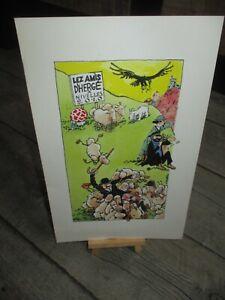 Hergé & F murr-Ex Libris grand format(27 cm)250 exemplaires-Dessin F murr-(2010)