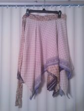 ~tav~ Recycled Silk Wrap Skirt ~ Gypsy Peasant Asymmetrical Boho Handkerchief 17