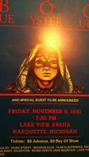 """Blue Oyster Cult 11/6/1981 Promo Poster 14""""x22""""   WHILE SUPPLIES LAST!"""