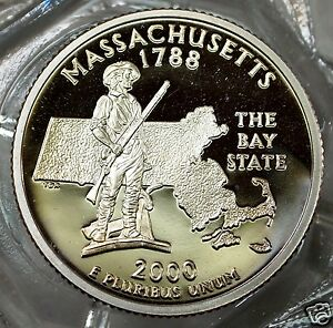 2000-S (CP)  Massachusetts State Quarter....#5294