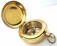 Brass Push Button Direction Compass POCKET COMPASS