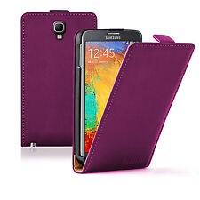 Ultra Slim MAGENTA Leather Flip Case Cover Pouch For Samsung Galaxy Note 3 Neo