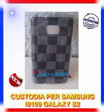 Custodia+Pellicola BACK COVER SQUARE NERA per Samsung I9100 galaxy s2 I9105