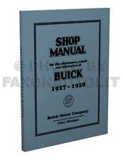1927-1928 Buick Repair Shop Manual Master and Standard Service Book
