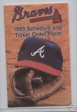 1989 Atlanta Braves  Pocket Schedule