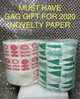 HOLIDAY NOVELTY TOILET PAPER 🎁 MUST HAVE 2020 CHRISTMAS GAG GIFT🎄NEW