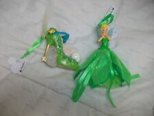 Lot of 2 Disney Tinkerbell Shoe & Gown Figurine Ornament