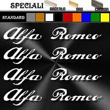 4 adesivo sticker ALFA ROMEO prespaziato tuning decal auto 12,5 cm