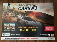 """Project Cars 3 36"""" X 26"""" Poster Promo THICK Display Ad Brand New / Rare / Unique"""