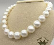 "HUGE 18""13-16MM NATURAL SOUTH SEA GENUINE ROUND WHITE PEARL NECKLACE"