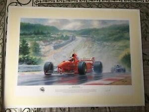 """Michael Schumacher """"The Rainmaster"""" Limited Edition Print by Tony Smith"""