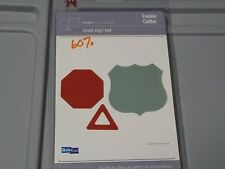 QUICKUTZ ROAD SIGN SET COOKIE CUTTER CUTTING DIE CC-SHAPE-074-3 NEW A414